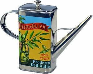 Stainless Steel Olive Oil Can Drizzler, Vintage Bottle Design - 500ml