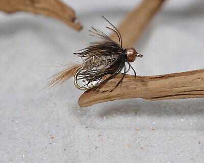 1 Doz BH Hares Ear Nymph/Wet Fly - Soft Hackle - Fishing Flies - Hook size #12 - Fishing Soft Hackle Flies