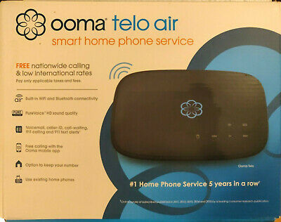 Ooma Telo VoIP Home Phone Service - Black Model# TELO103