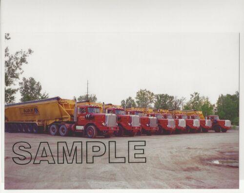 Fleet of 8 1984-1986 AUTOCAR CS9564 Michigan 11-Axle FLOWBOYS 8x10 Color Photo
