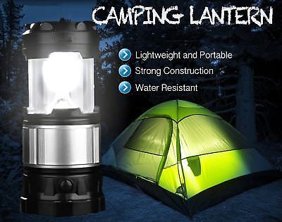 Rechargeable Outdoor LED Solar Lantern Hiking Camping Lamp Phone USB Power Bank