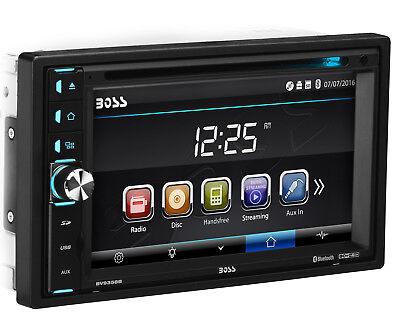 "Boss BV9358B Double 2 DIN Bluetooth DVD USB Car Stereo Receiver 6.2"" Touchscreen"