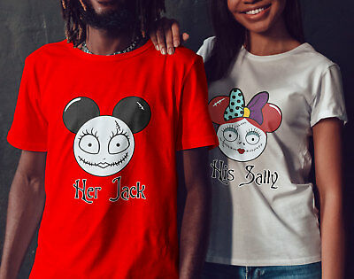 Halloween Funny Mickey and Minnie -Her Jack - His Sally T-Shirts for Couples!](Halloween For Couples)