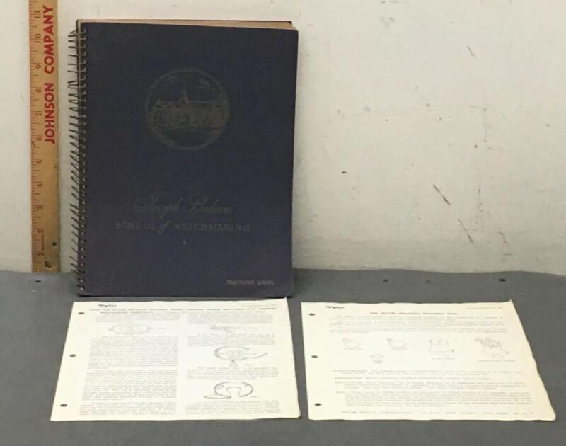 1947 Joseph Bulova School Of Watchmaking Training Units/Manual Named
