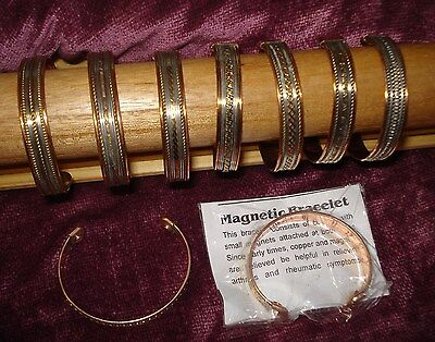 Wholesale Lot x6 copper & magnet healing bracelet bangle rheumatism pain relief