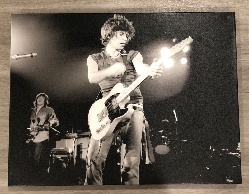 Limited Edition Rolling Stones Keith Richards Canvas Print By Richard E Aaron