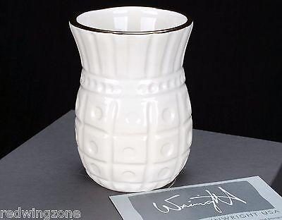 NIB!! Michael Wainwright Hand Painted Capitol Gold Bud Vase