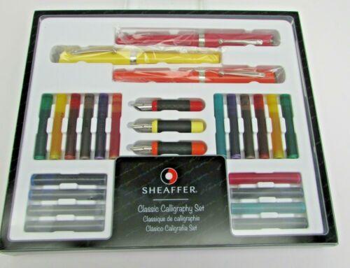 Sheaffer Classic Calligraphy Set- Maxi Kit - 3 Pens / 26 pcs   NEW