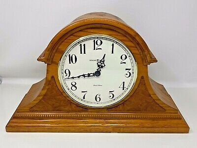 Howard Miller Frampton Quartz Mantel Clock 630-120 Dual Chime Oak USA