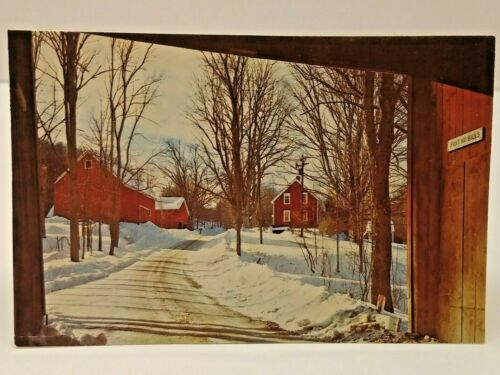 VTG Preble County National Bank Eaton OH Christmas Card W/ Wallet Calendar/Ruler