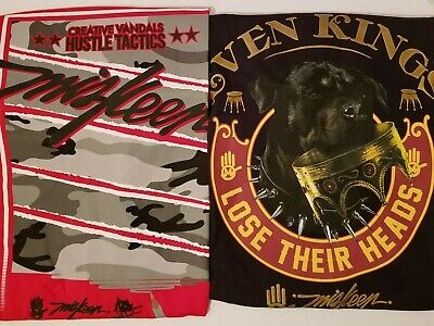 Miskeen Originals Mens Camo Graphic Print T-Shirts Top Red NWT Streetwear Urban