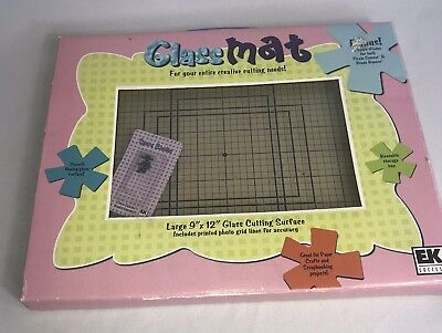 "EK Success Glass Cutting Mat For Scrapbooking and Crafts 9"" x 12"" Plus Blades"
