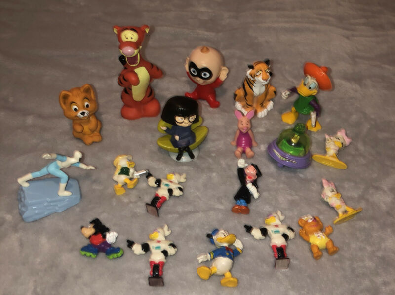 Lot Of 19 Mostly Vintage Disney Restaurant Toys And Figures 80's 90's