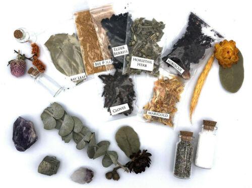 Set Of 5 Random Assorted Herbs Wicca Witchcraft Spells Metaphysical Supplies