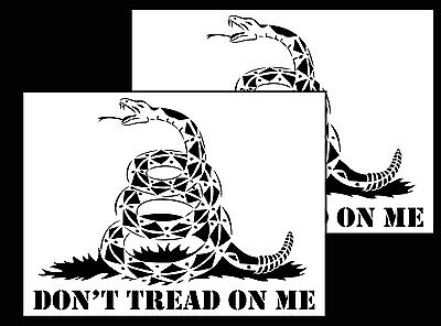 2Pack Vinyl Airbrush Spray Paint Stencils 10 Mil Gadsden Flag Don't Tread On Me - 2 Pack Paints