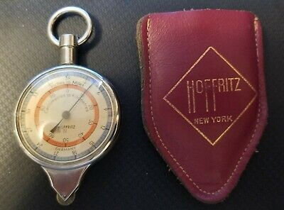 Vintage Hoffritz New York Map Measurement Tool and Compass