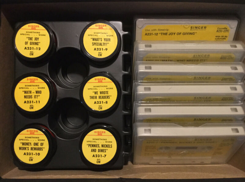 """1976 SVC Singer Education Filmstrips & Cassettes """"Something Special - Work"""" A231"""