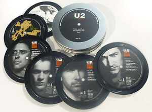 U2-6-coasters-in-a-tin-Popsters-Joshua-Tree-Rattle-and-Hum-Boy-Bono-Edge