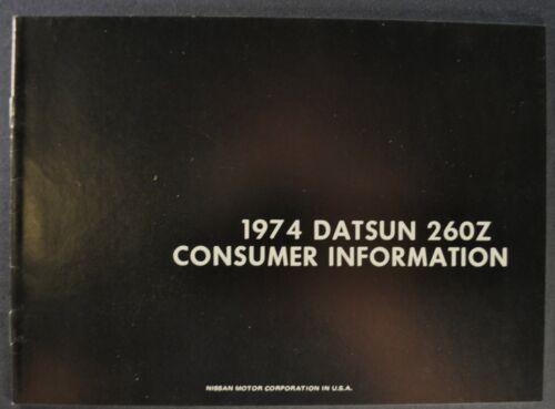 1974 Datsun 260Z Consumer Information Brochure Nissan Excellent Original 74