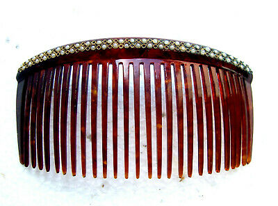 Victorian Wigs, Hair Pieces  | Victorian Hair Jewelry Late Victorian hair comb faux pearl back comb hair ornament $150.00 AT vintagedancer.com