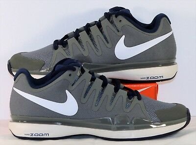 818b9e43d9a936 Nike Zoom Vapor 9.5 Tour Wolf Grey   White Navy Tennis Shoes Sz 8 NEW  631458 014