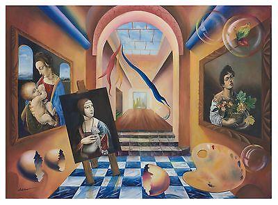 Original Surrealism Art Giclee on canvas | 24x30