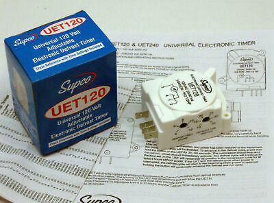 UET120 SUPCO Refrigerator Defrost Timer Control Universal 120 Volt Electronic