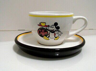 Rare Disney Mickey Mouse Espresso Coffee Tea Cup and Saucer Really Swell WDW Mug
