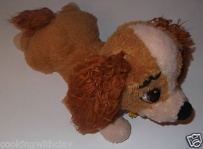 "12"" DISNEY LADY & THE TRAMP core lady spanish plush dog  LADY IN TRAMP SO SWEET"