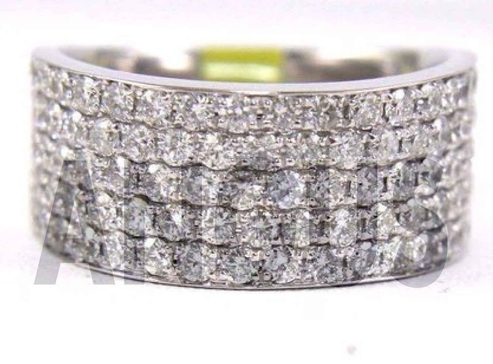 1.99 ct Diamond Round Anniversary Band Engagement Ring Solid