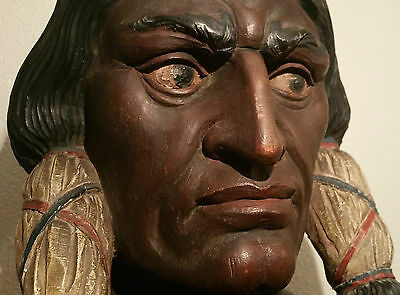 ROBB cigar store indian statue antique tobacco sign vtg buffalo bill circus art