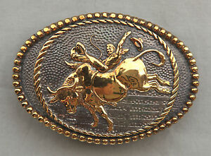 Vtg-ADM-Cowboy-Bull-Rodeo-Hand-Made-Western-Belt-Buckle