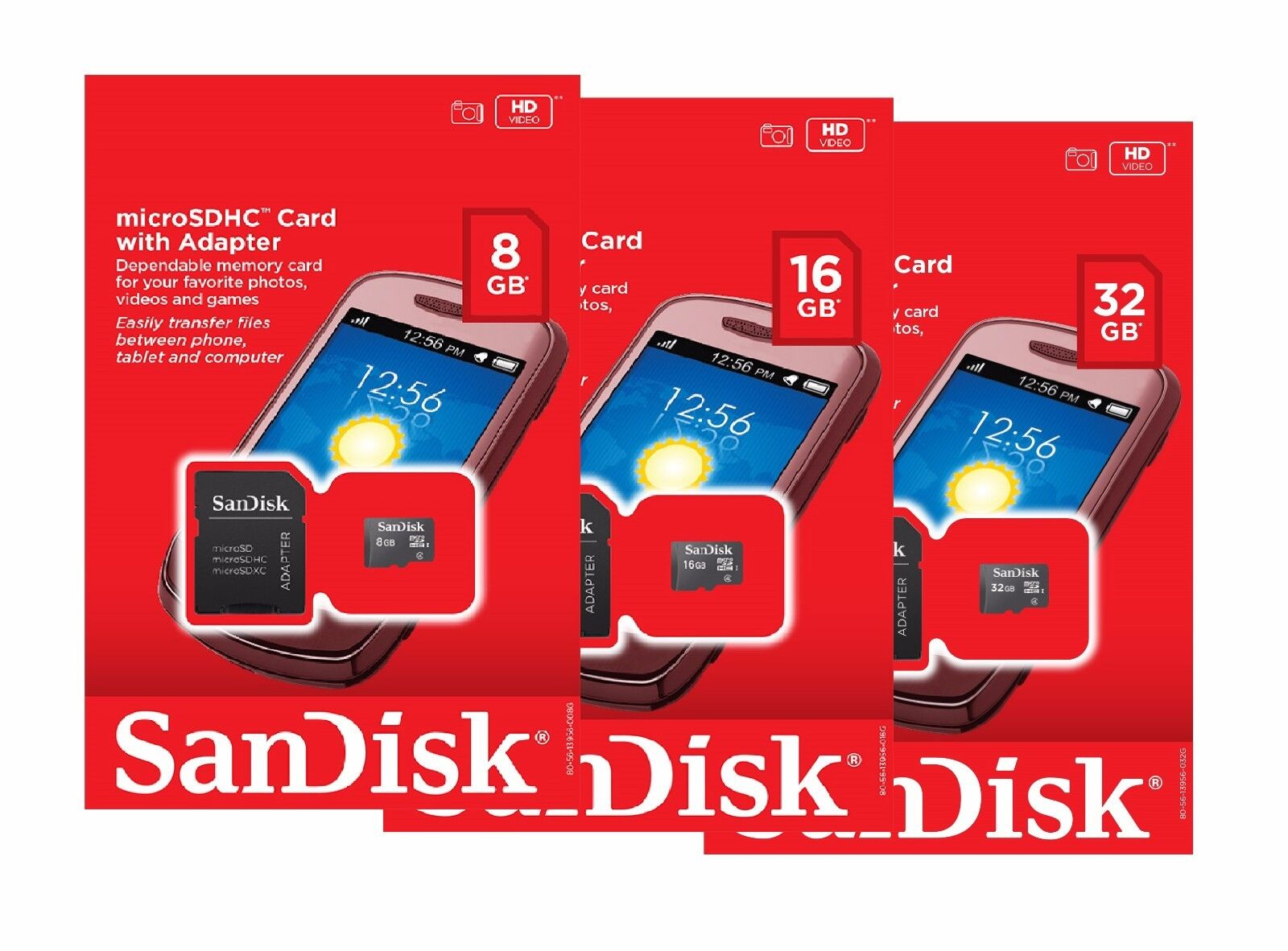 SanDisk 8GB 16GB 32GB Micro SD SDHC Class 4 TF Flash Memory