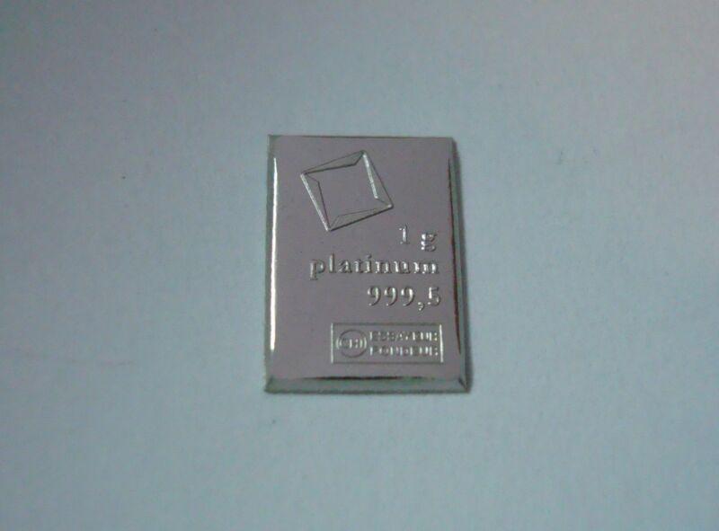 1 Gram 999.5 PLATINUM Valcambi Suisse Combibar.