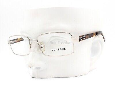 Versace MOD 1195 1000 Eyeglasses Frames Glasses Silver / Havana 53-17-140