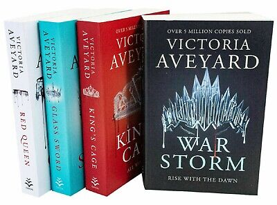 Red Queen Series 4 Books Collection Set by Victoria Aveyard Glass Sword