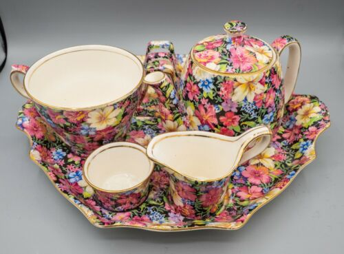 Royal Winton Florence Individual Breakfast Set Vintage Chintz FREE USA SHIPPING