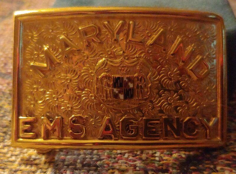 Maryland State Police. EMS Agency Belt Buckle 1960's