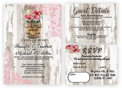 Pink Wedding Invitations Rustic Theme Barrel Country Western Bridal Shower (Western Bridal Shower Invitations)