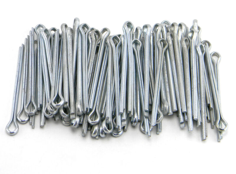 LOT OF 82 COTTER PINS STEEL ZINC 5/16 x 4""