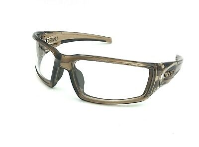 2b6d188453 Mountain Biker Clear Lens Cycling Glasses UVEX ANTI-FOG.Brown Smoke Frame  NEW