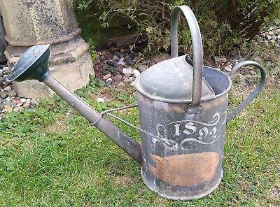 Bargeware Antique Galvanised Metal Gardening Watering Can 2 1/2 Gallon Painted