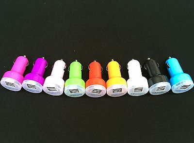 100 lot Dual USB 2 Mooring Car Charger 2.1A Adapter 4 Samsung HTC LG Color iPhone 6