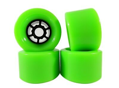 Blank Pro 83mm x 52mm Longboard Wheels Green Flywheels