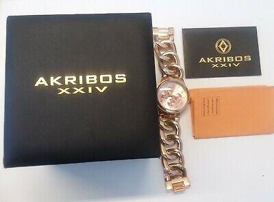 Akribos XXIV AK531RG Rosetone Women's Watch Analog