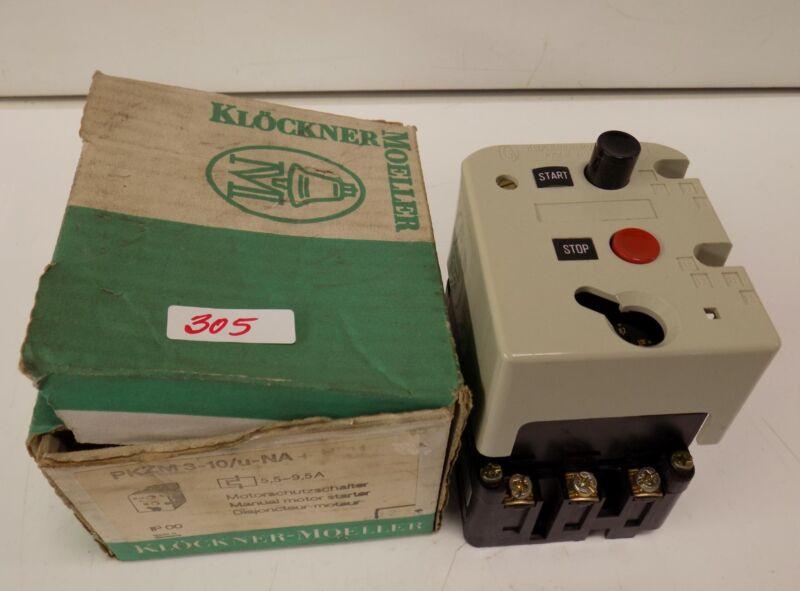 KLOCKNER MOELLER MOTOR STARTER  PKZM3-10/u-NA NIB