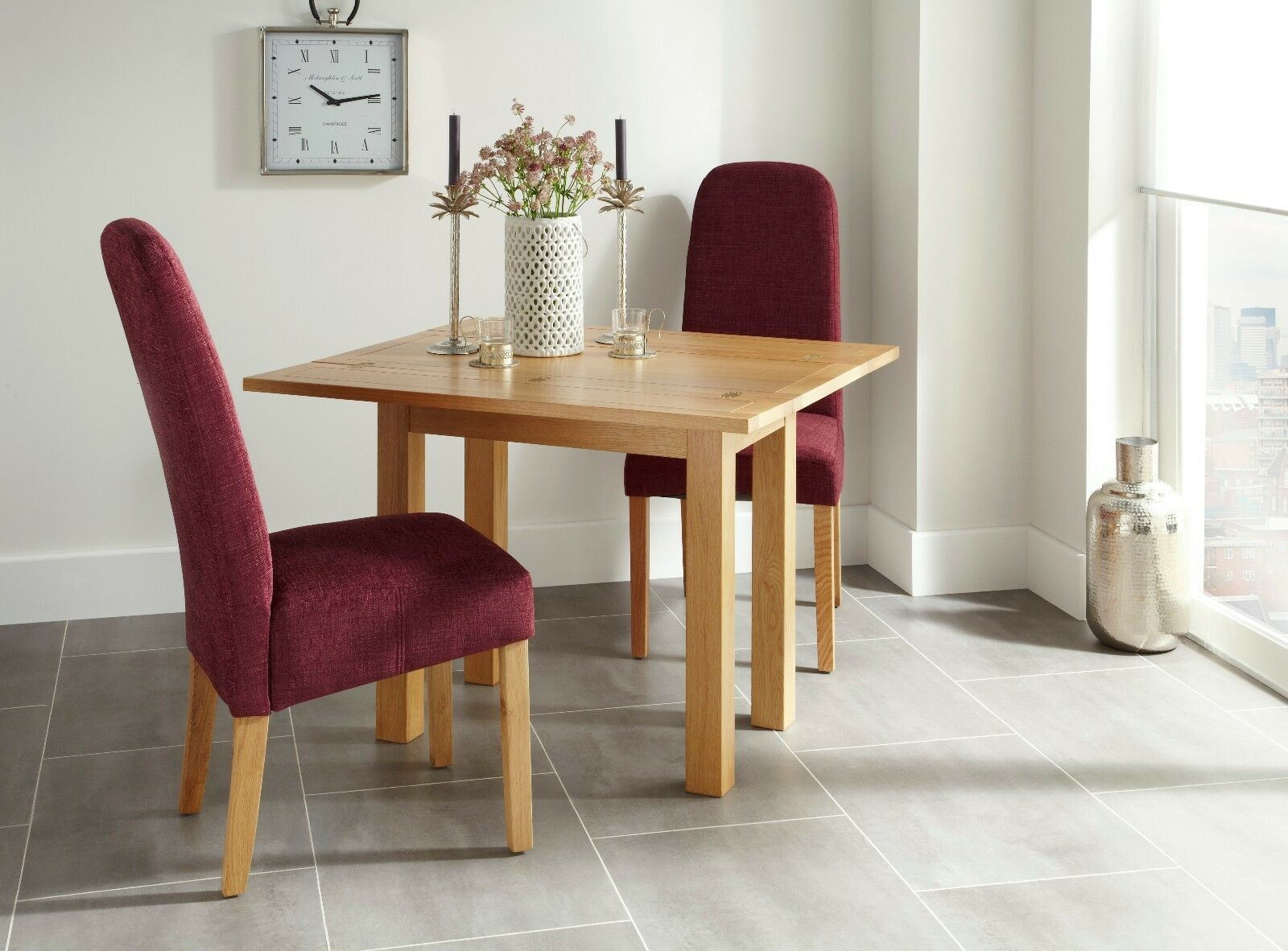 Magnificent Details About Stanton Extendable 4 Seater Dining Table Solid Oak Wood Square Optional Chairs Download Free Architecture Designs Sospemadebymaigaardcom