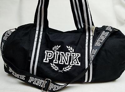 Victoria's Secret Pink Campus Gym Bag BLACK Duffle Tote Cute School College - Cute Duffle Bag