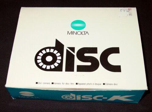 Vintage Minolta Disc-K Camera in box Made in Japan New