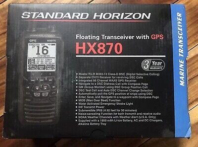 Standard Horizon HX870 Floating GPS VHF FM Marine Receiver NOAA Boat Ocean Lake